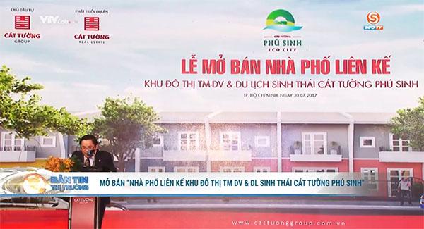 """infoTV-Mở bán """"Nhà phố liên kế Khu đô thị Sinh thái Cát Tường Phú Sinh"""""""